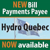 Hydro Quebec Now Available as Bill Payee